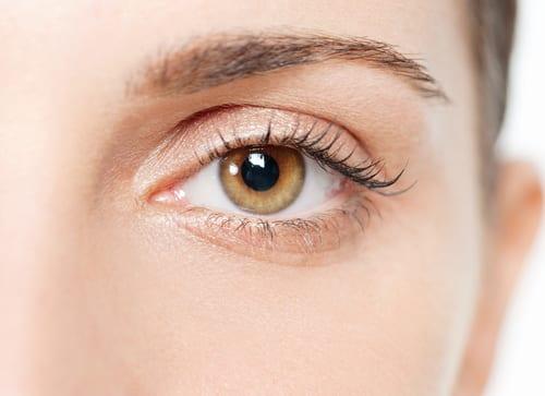 Light brown eye, close up