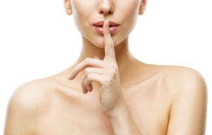 Quiet Lips Silence Sign about Facial Fillers